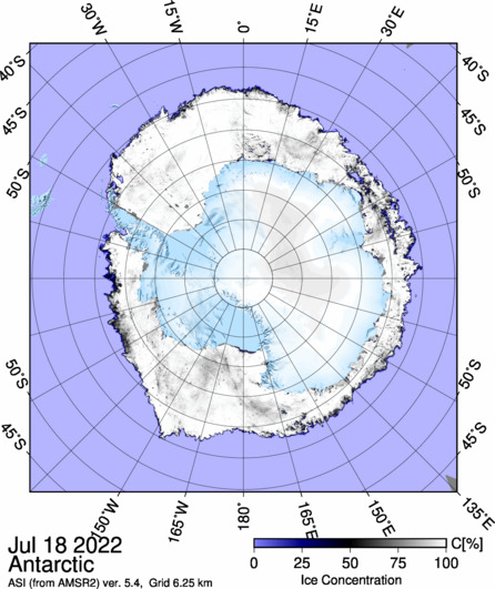 Antarctic sea ice concentration